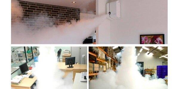 Generador de niebla para proteger tiendas, gasolineras y locales comerciales